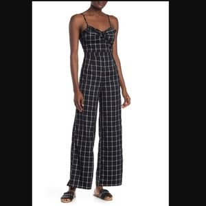 romeo & juliet couture | printed wide leg jumpsuit